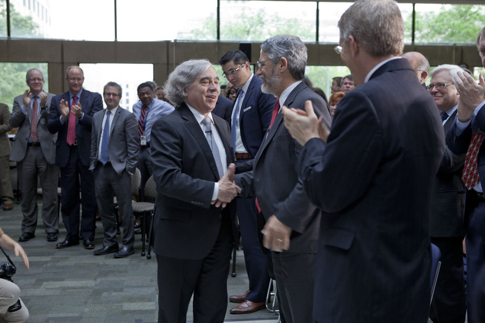 Secretary Moniz Meets DOE Employees and Guests
