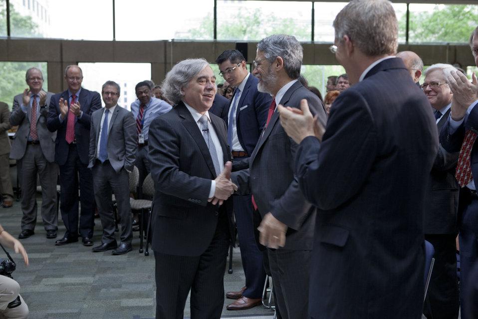 Secretary Moniz Meets DOE Employees and Guests