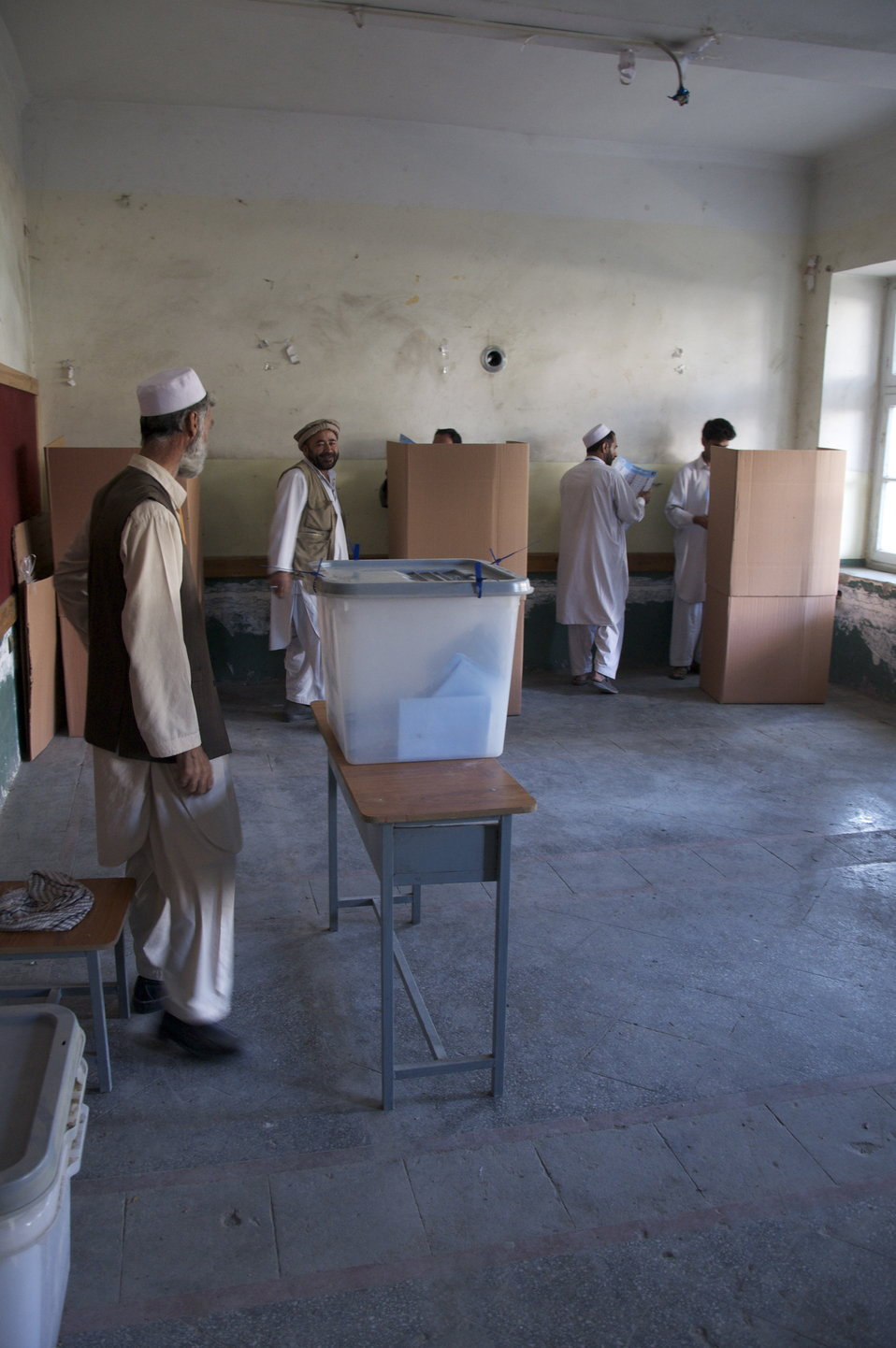 Election Polling Center in Kabul