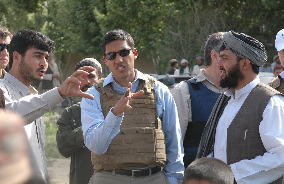 Dr Shah Visits Argandab April 10, 2010