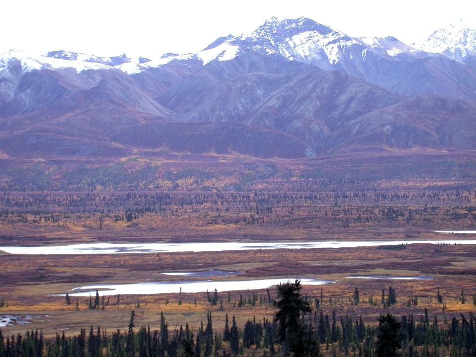 Part of the Alaska Range as seen from Alaska Highway 3.