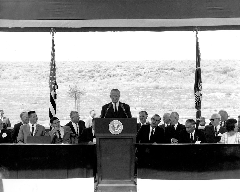 President Lyndon B. Johnson in Idaho..