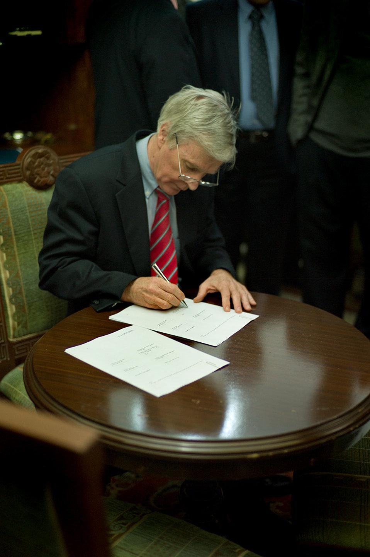 Ambassador Crocker Signing