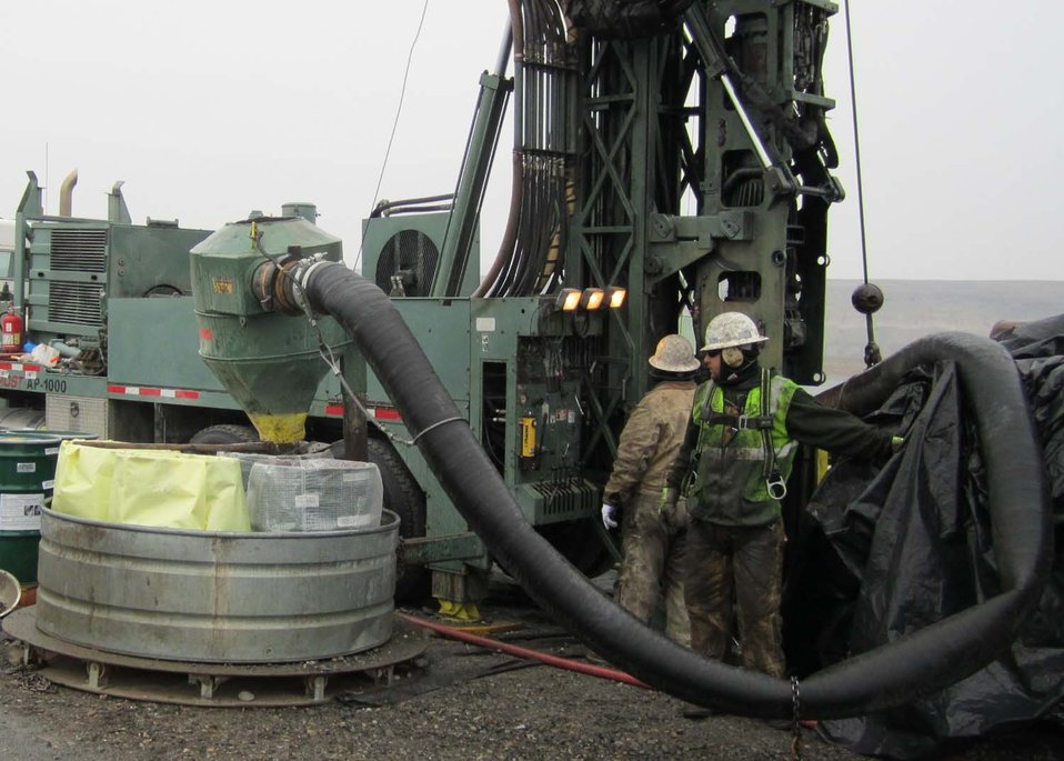 Drilling at the Hanford site