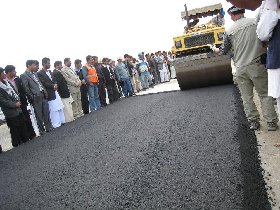 Kishim Fayzabad Road Paving