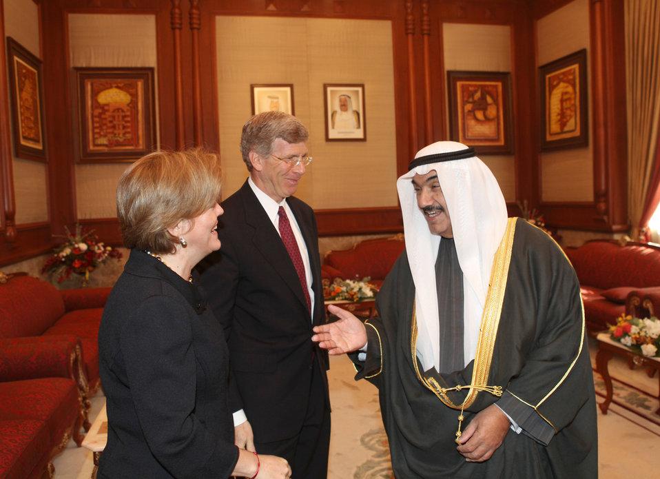 Deputy Secretary Poneman meets with Prime Minister Sheikh Nasser Al-Mohammad Al-Ahmad Al-Jaber Al-Sabah of Kuwait.