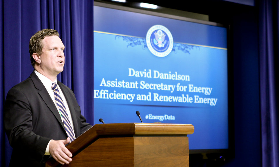 Assistant Secretary Dave Danielson speaking at the Energy Datapalooza