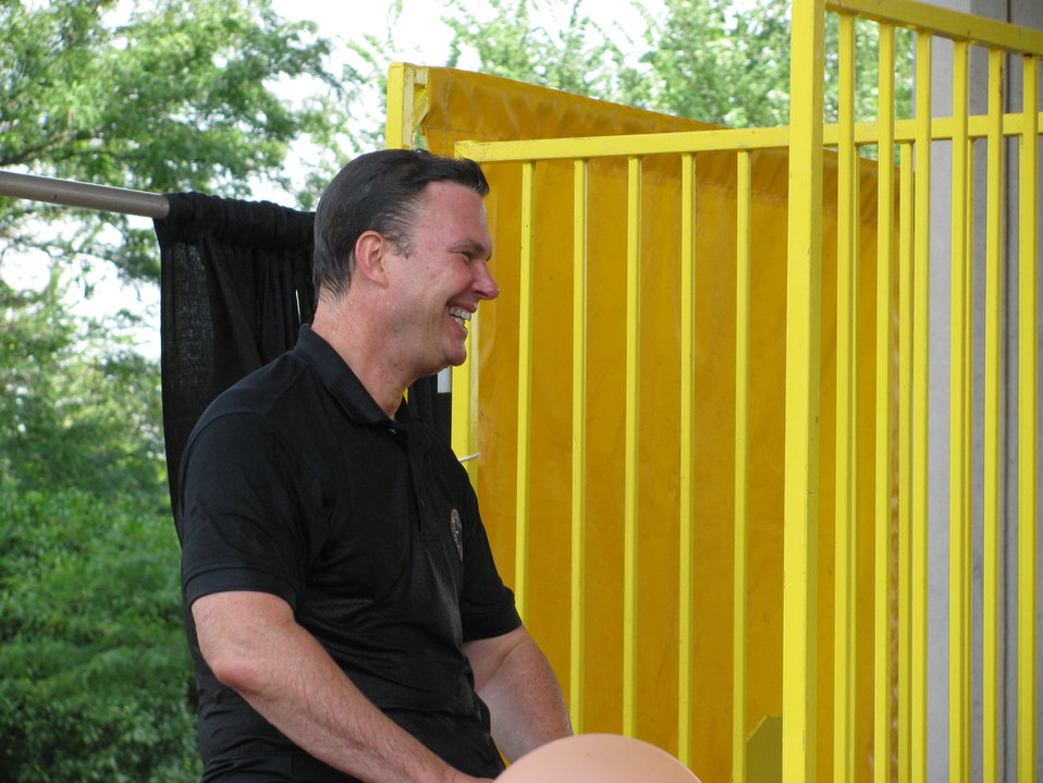 White House Office of Personnel Management John Berry in the dunk tank