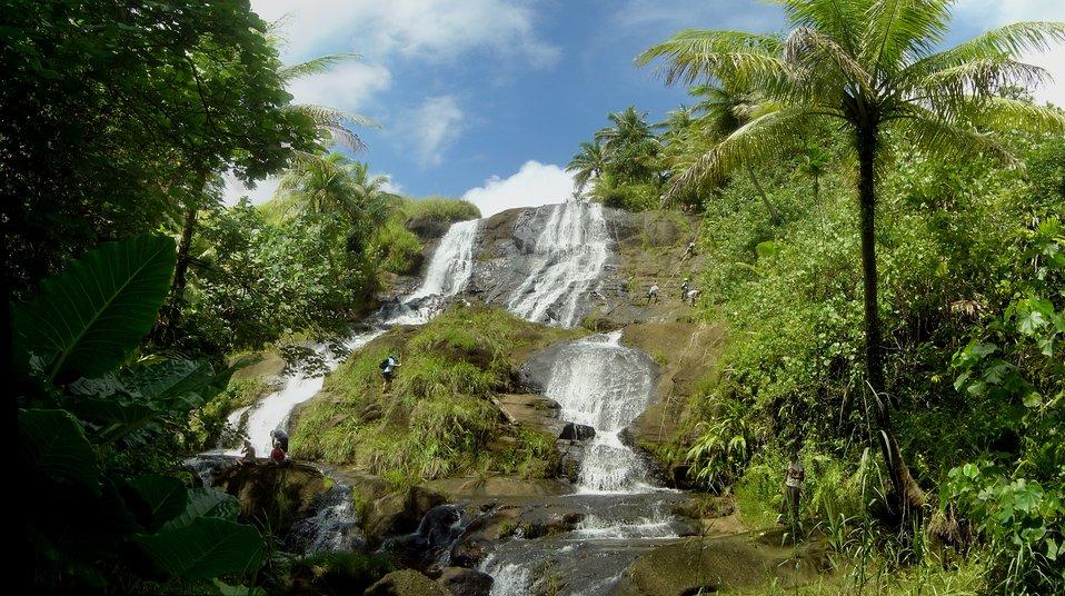 Inajaran Falls in the interior of Guam.