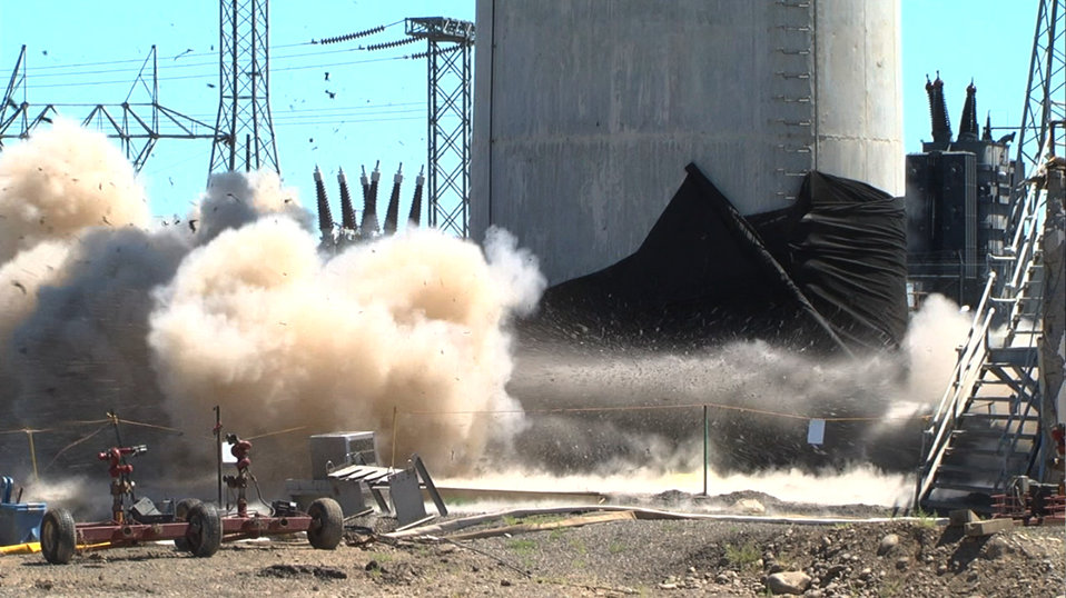 Detonation at the base of 116KE