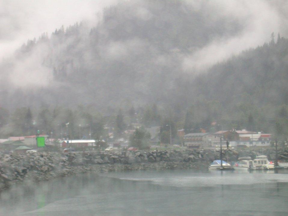 Seward on a foggy day.