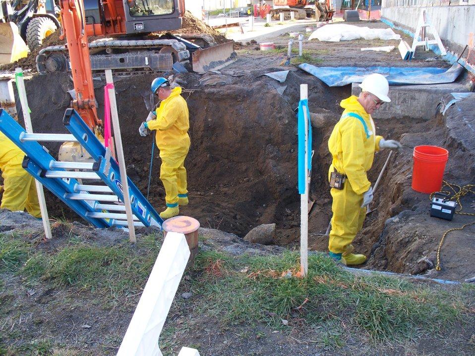 SPRU WGI tank vault excavation