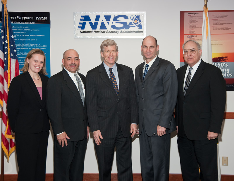 Deputy Secretary Daniel Poneman and NNSA Administrator Thomas D'Agostino with KCP leadership.