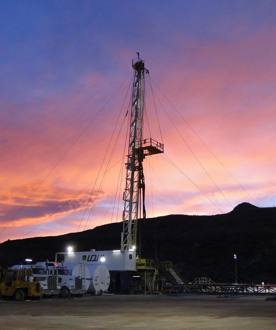 Drilling at NNSS