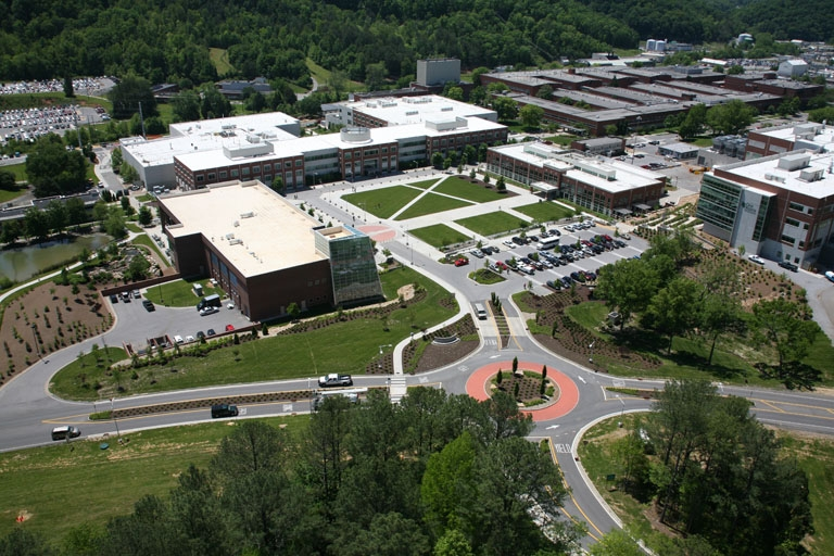 Oak Ridge aerial view - West Campus