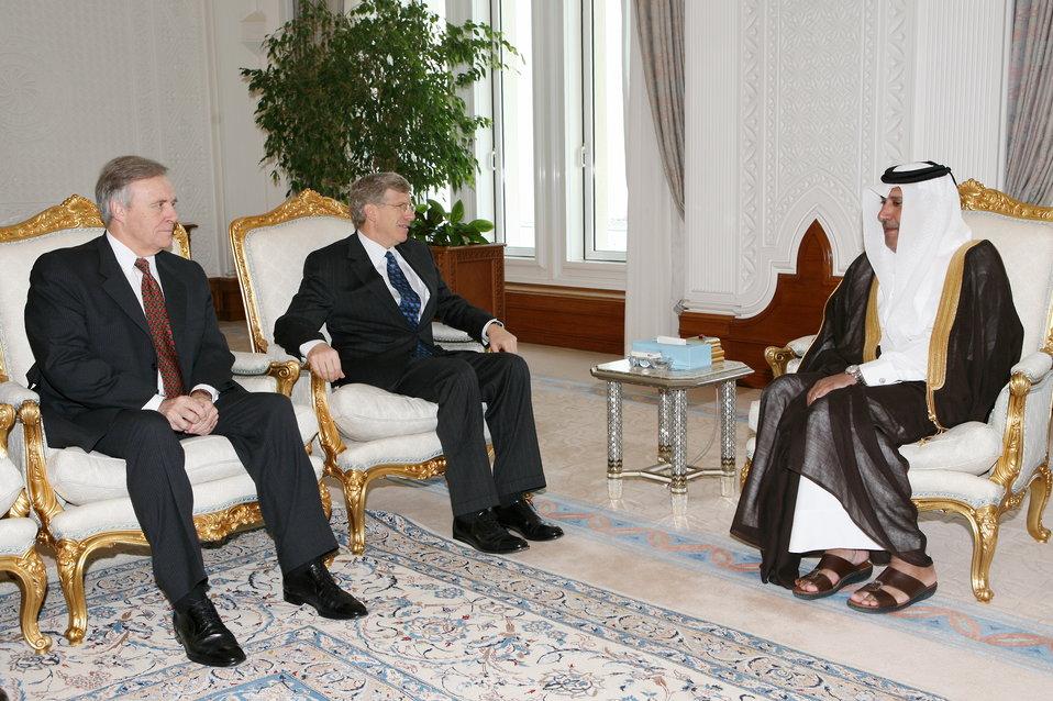 Deputy Secretary Poneman meets with Qatar Prime Minister Sheikh Hamad Bin Jassim Bin Jabr Al-Thani.