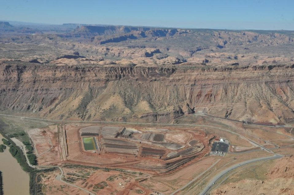Moab uranium mill tailings pile