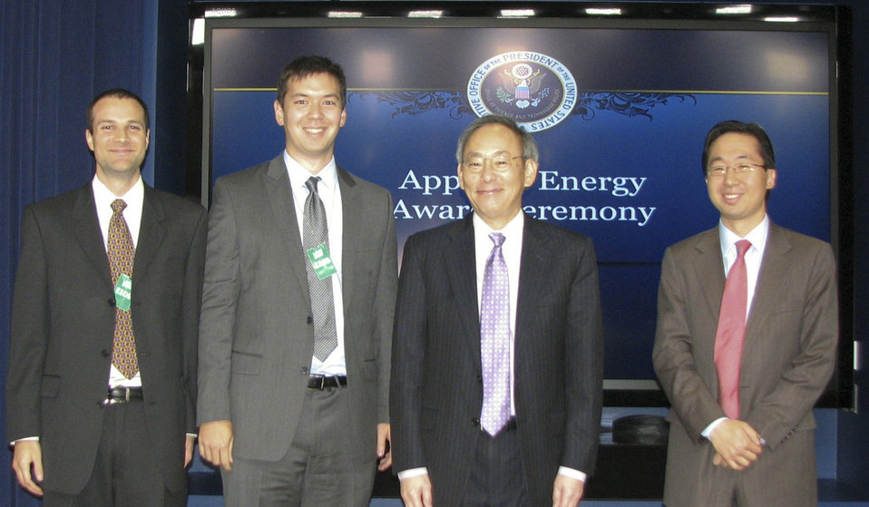 Secretary Chu, U.S. CTO Todd Park, and Leafully