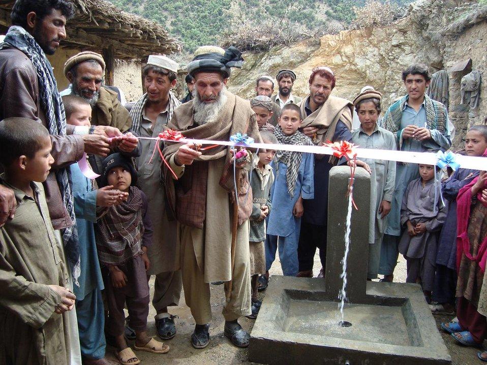 Village Elder at Ribbon Cutting - Nawa Water Taps