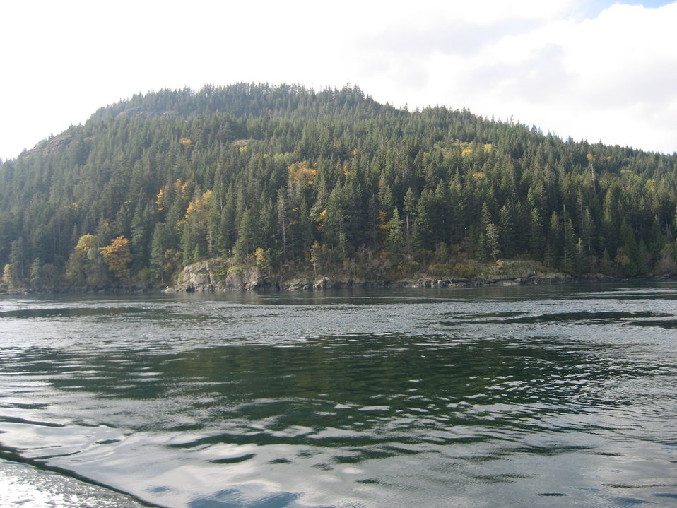 A fall scene along the Inside Passage.