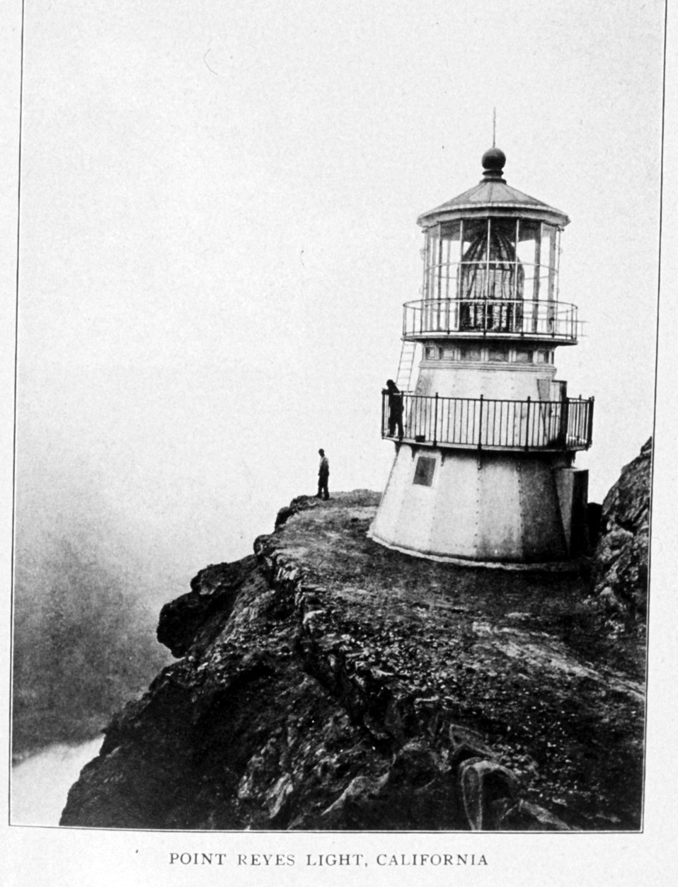 Point Reyes Light, California.  In: 'Lighthouses and Lightships of the United States' by George R. Putnam, p. 140,  1917.  Houghton Mifflin and Company, Boston. Library Call No. 527.7 P98.