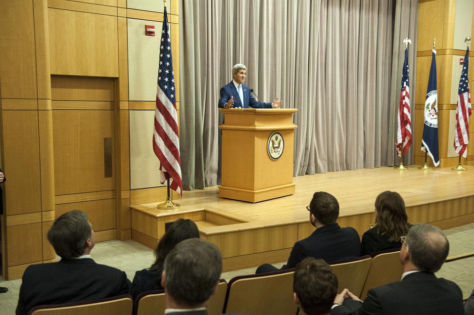 Secretary Kerry Introduces Historian Doug Brinkley