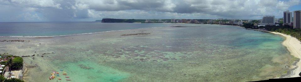Tumon Bay mosaic, Guam coastline.