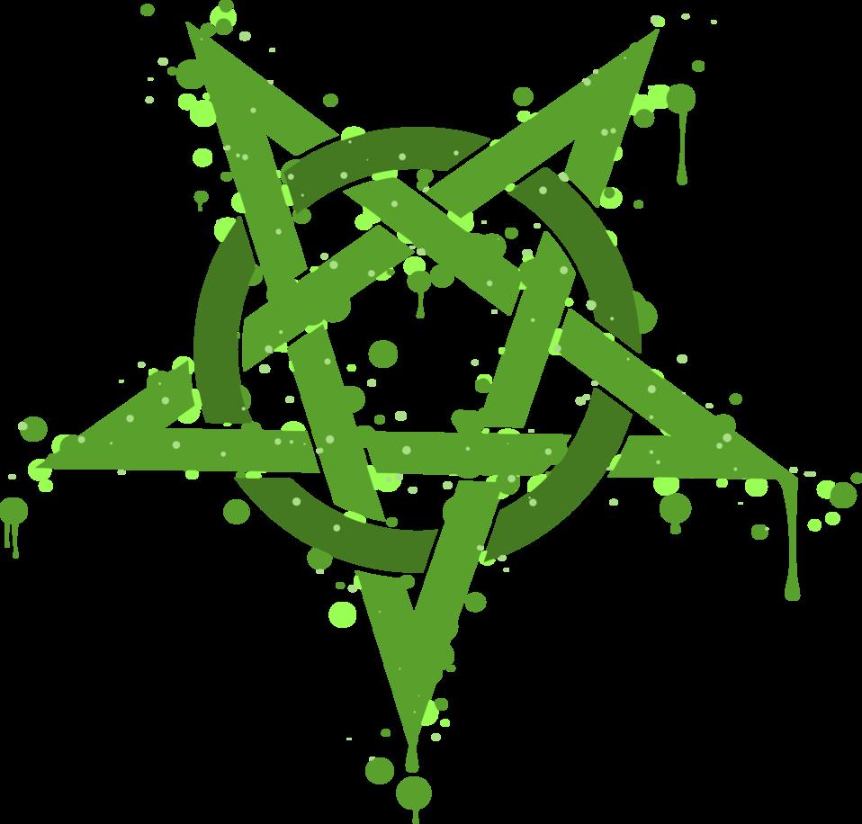 Pentagramme Taches Vertes