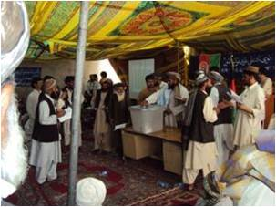 IDLG and PRT Governance Team Hold District Community Council Elections in Nad-e-Ali District