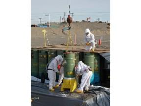 Hanford Site waste drum removal