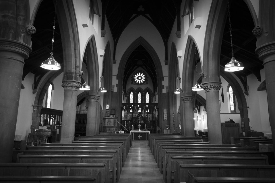 Aisle st mark's church, pensnett