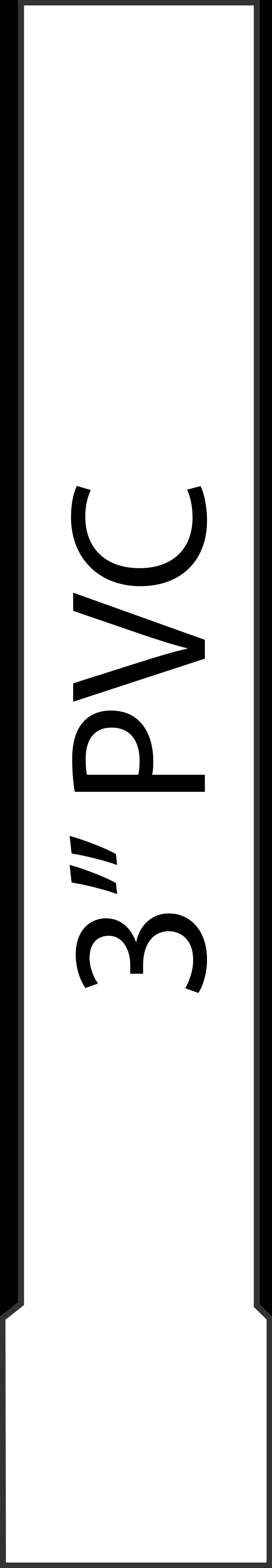Short 3' PVC Pipe