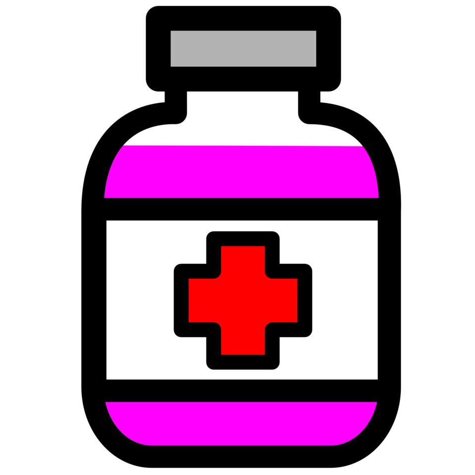 Illustration of medicine bottle