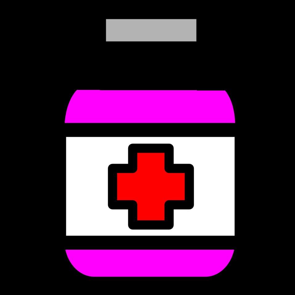 public domain clip art image illustration of medicine bottle id rh publicdomainfiles com medicine bottle and pills clipart Pill Bottle Clip Art