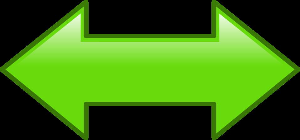Illustration of green arrows
