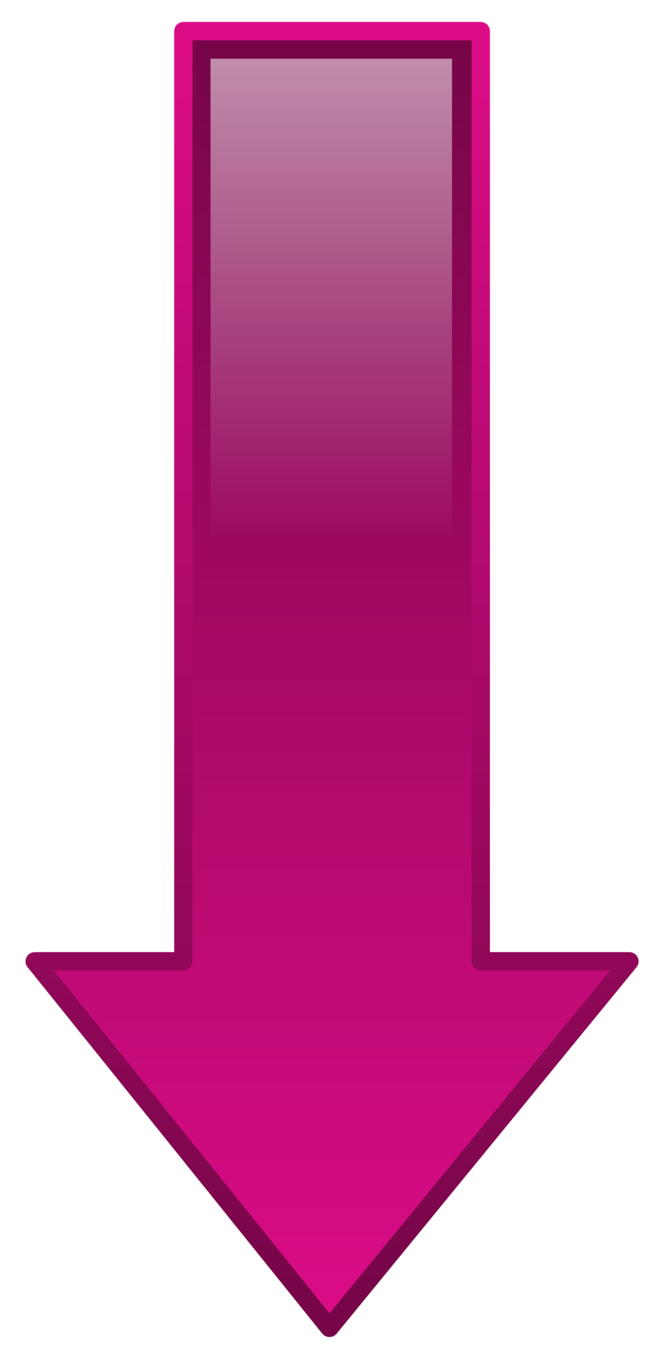 Pink down arrow