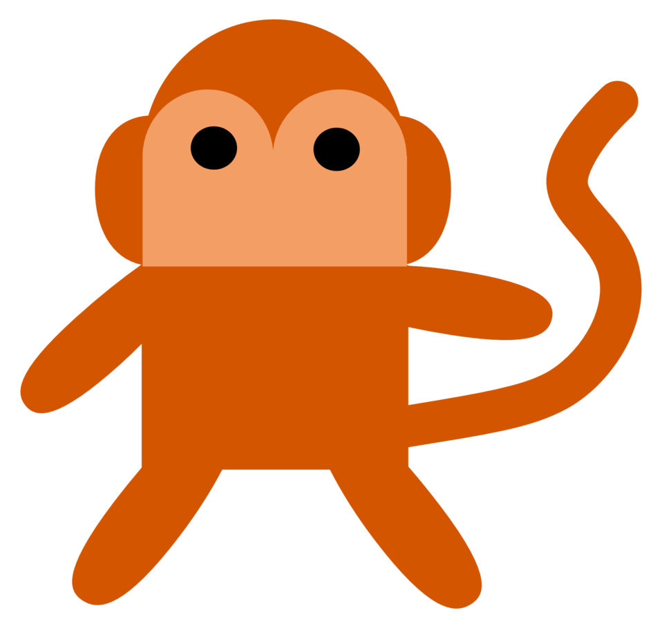 Illustration of a cartoon monkey