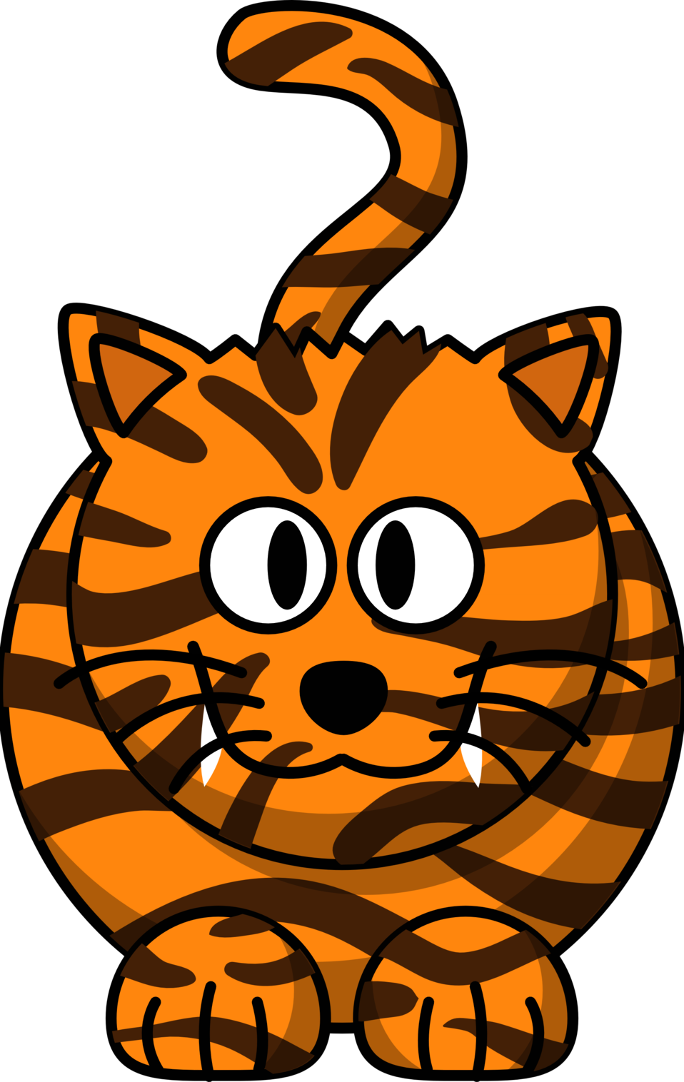 Illustration of a cartoon tiger