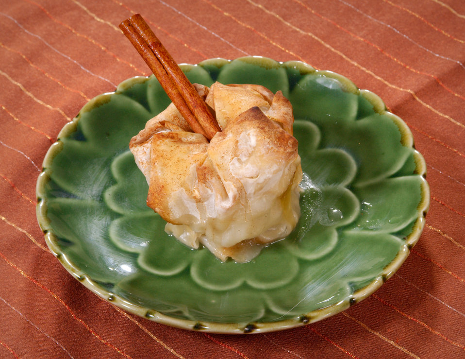 Now here's a healthy dessert choice, an Apple Dumpling. The recipe, which may be accessed using the link below, is a simple one, calling for