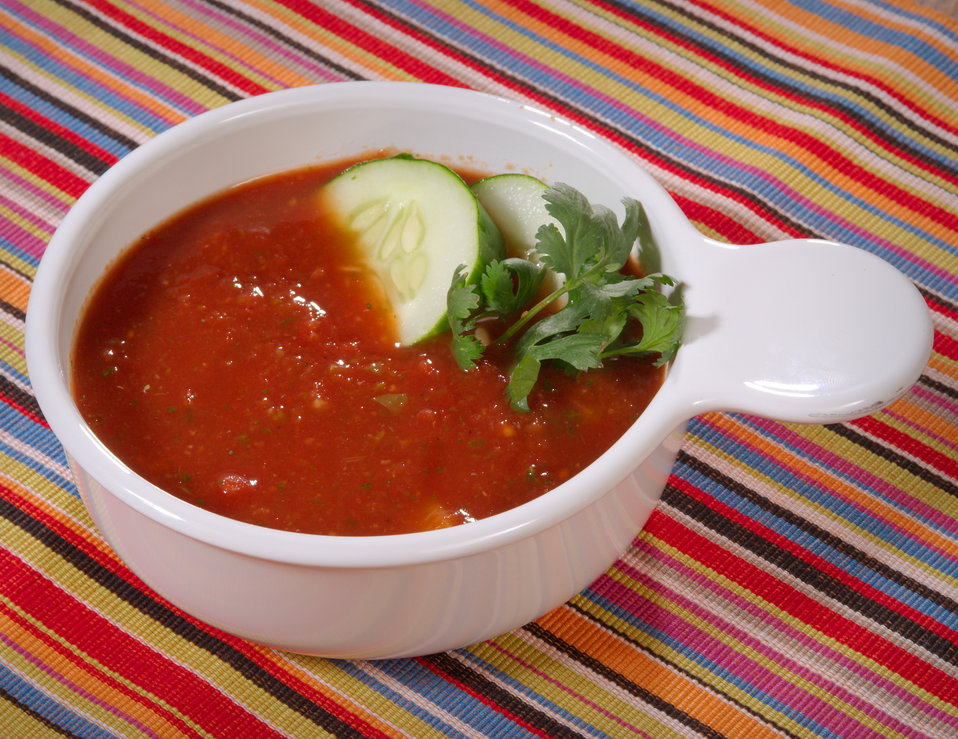 This Bean Gazpacho soup is packed with nutrients, including 15 grams of fiber, vitamins A and C, 14 grams of protein, and is low-fat and low
