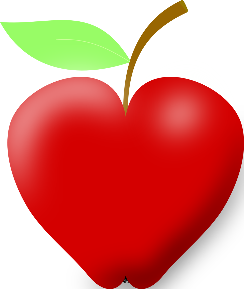 Illustration of a red apple