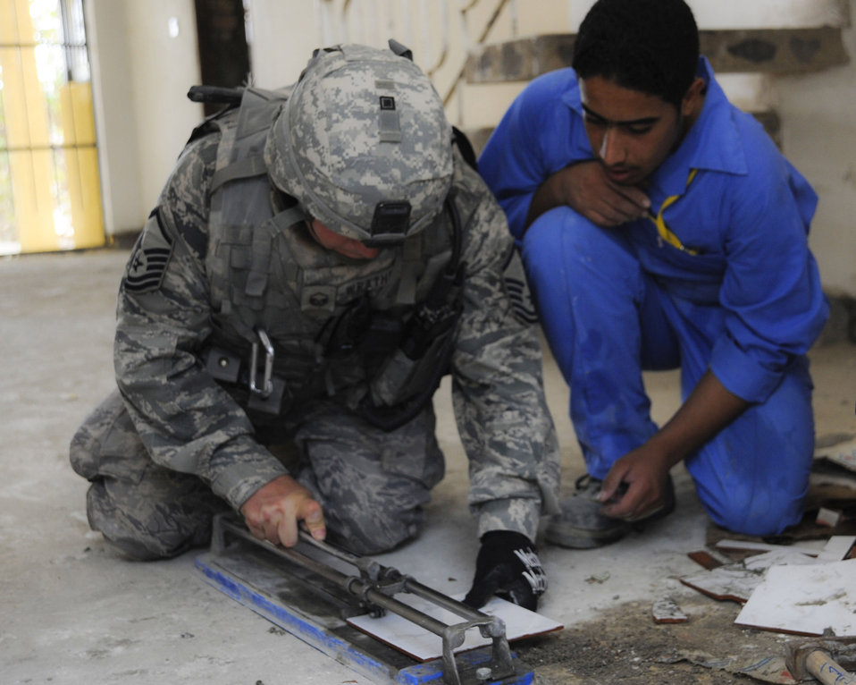 RED HORSE Airmen give Iraqis reason for hope