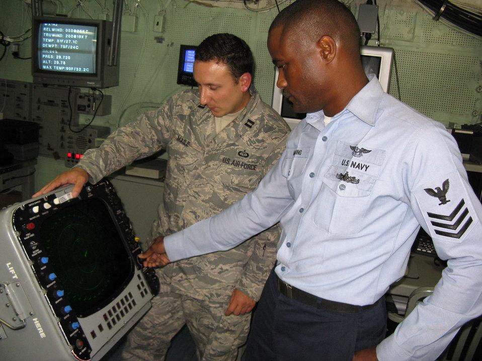 Forecasters afloat support multinational training exercise