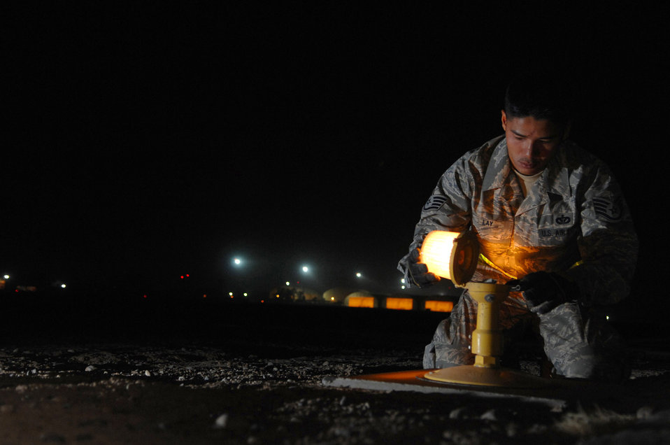Airmen light the way