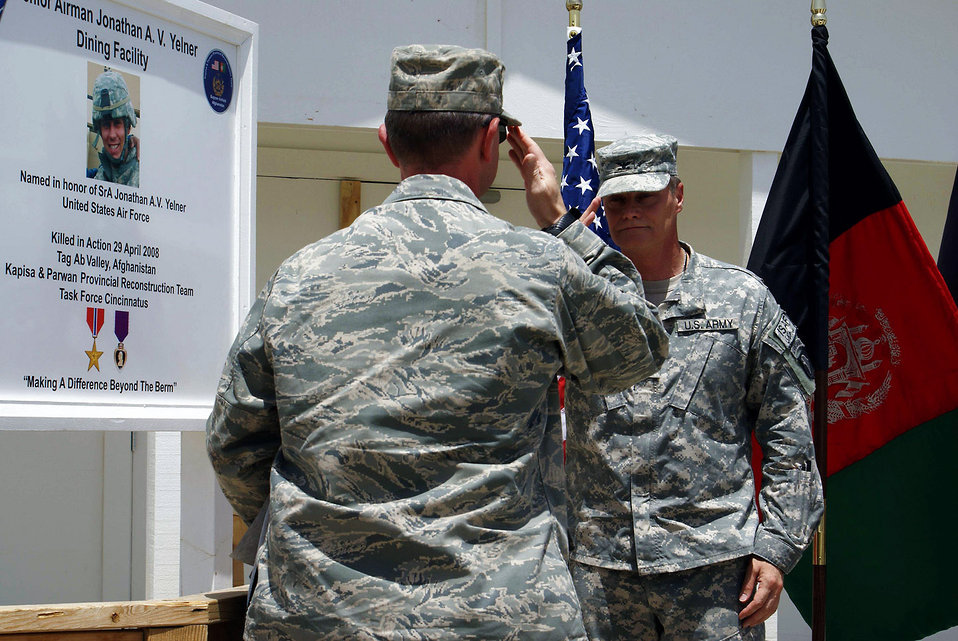 Bagram dedicates dining facility to fallen Airman