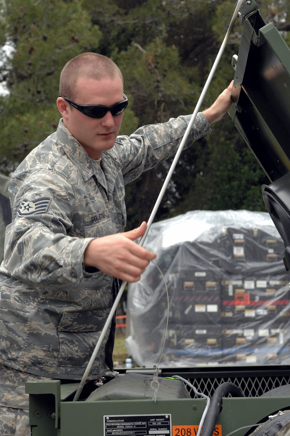 Airmen set up communication lines for exercises in Croatia