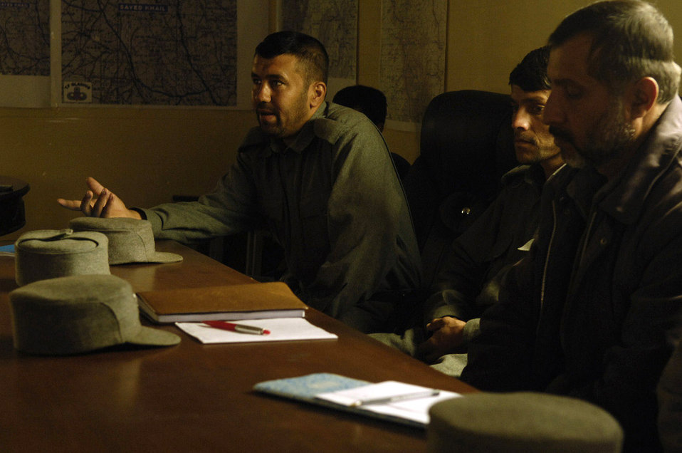 Bagram Airmen provide training to Afghan police
