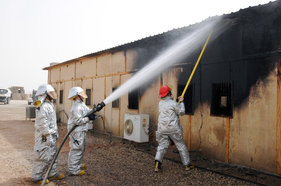 Airmen respond to coalition fire in Iraq