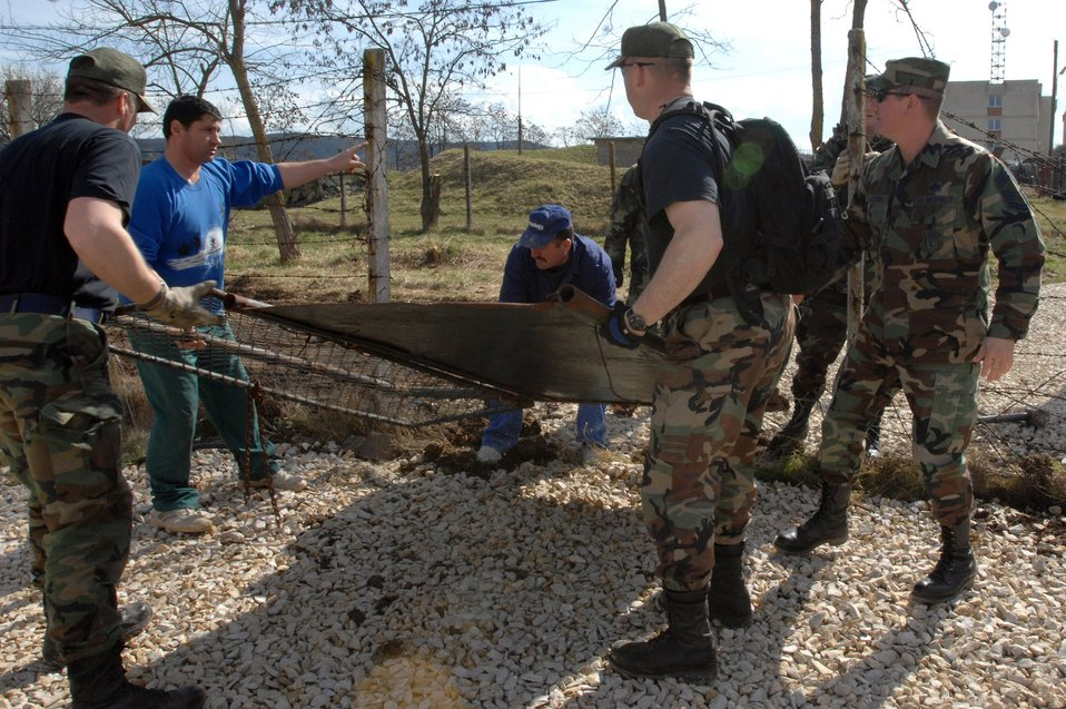 Civil engineers build Airmen in Romania a home