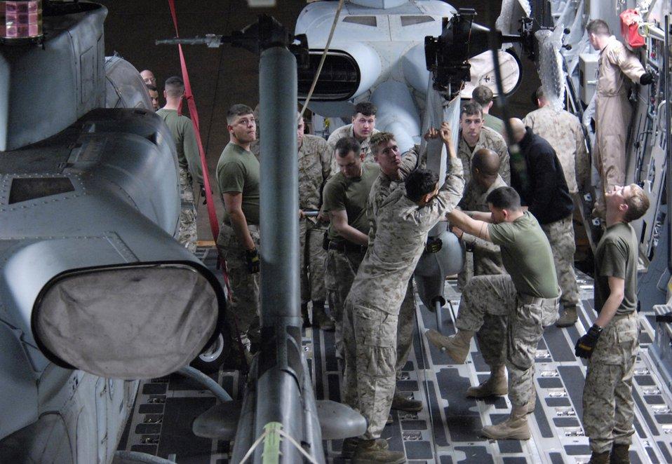 Marines move through Manas Air Base